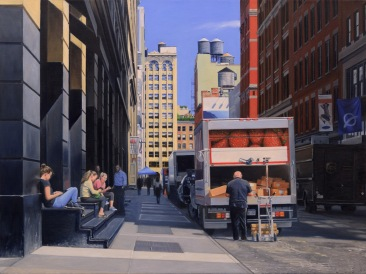 Crosby Street_ 36x48inches_ Oil Painting