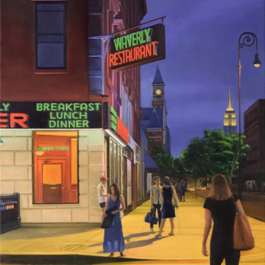 Waverly Diner _ 42x36inches_ Oil Painting